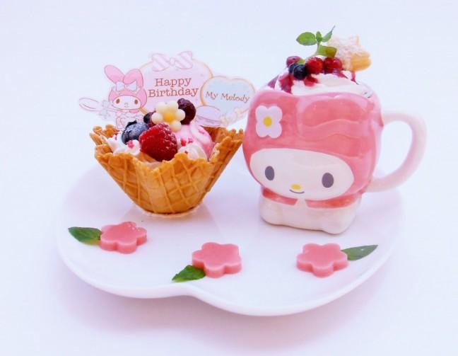 ハローキティのカフェでマイメロディのお誕生日をお祝いするよ!一緒にお祝いしよっ♪