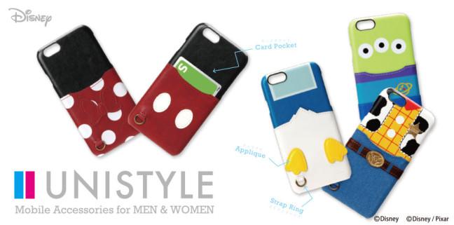 あなたのスマホがディズニーキャラに変身☆iPhone 6s/6用PUレザーケース新デザイン5種が販売開始!ICカードが収納できる便利さもプラス♪