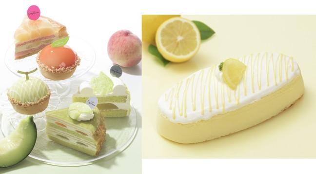 夏の果物の美味しさが楽しめます♪コージーコーナーからメロン&白桃の新作スイーツと「瀬戸内レモンのチーズスフレ」が夏季限定で発売☆