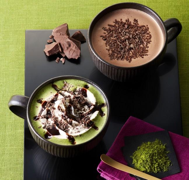 タリーズコーヒーにほっこり温まるドリンクあります♪「チョコレート&抹茶モカ」「チョコリスタ®」はカカオ香る大人のチョコレートドリンク♡