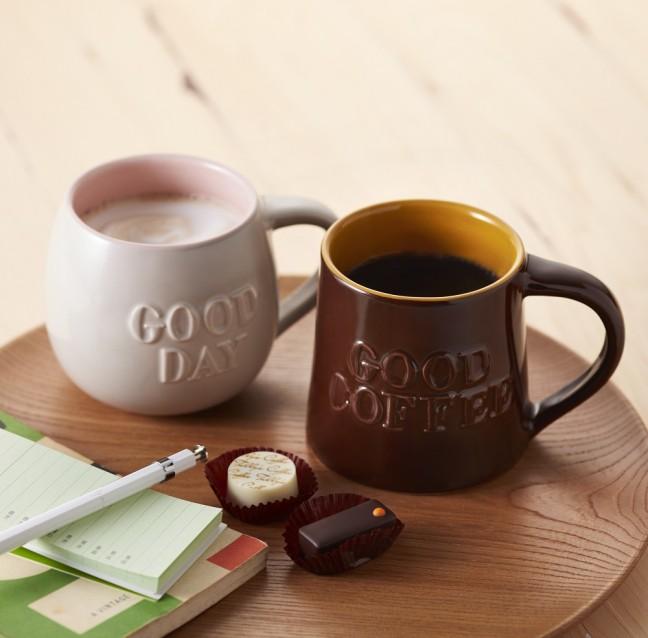 グッドデーマグ(ミルクグレー)グッドコーヒーマグ(ブラウン)