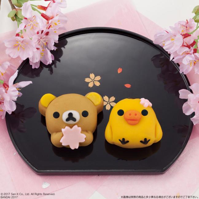 春の足音を感じながら…リラックマもお花見気分!?桜と一緒に可愛く和菓子になっちゃったリラックマがローソンに登場♪