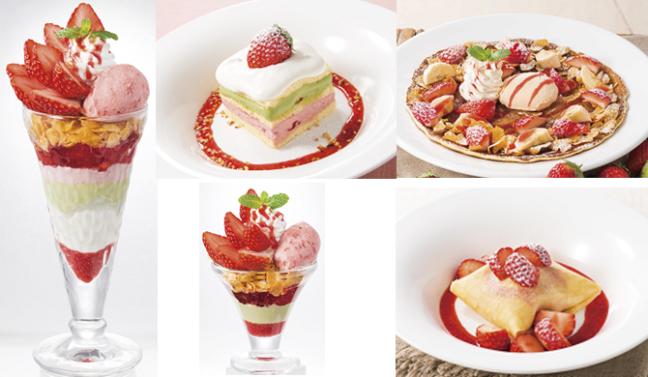 """デニーズの""""苺づくし""""第2弾が3月7日よりスタート!苺の魅力を詰めこんだショートケーキやサンデーは、美味しく春色を楽しむデザート♡"""