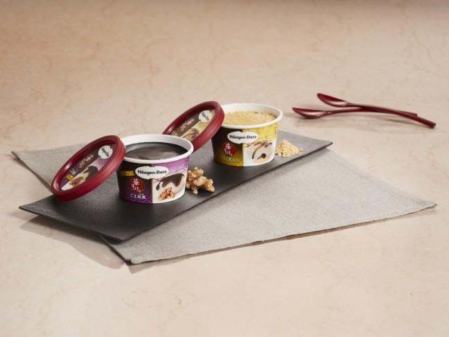 """""""アイスクリーム×もち""""の贅沢な和の味わいが人気のハーゲンダッツ""""華もちシリーズ""""に『ごま胡桃』が新発売&『きなこ黒みつ』も再登場!期間限定の美味しさを楽しもう♪"""