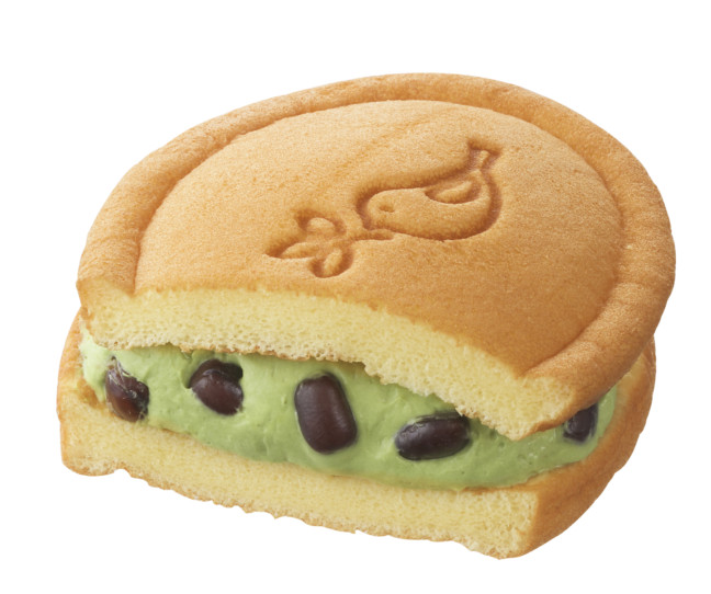 銀座コージーコーナー ワッフル(抹茶&あずき)