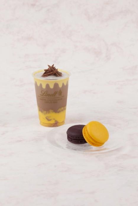 リンツの濃厚チョコレートとぷるぷるマンゴープリンを合わせたフルーティーな夏のドリンク☆「リンツ ミルクチョコレート マンゴー アイスドリンク」