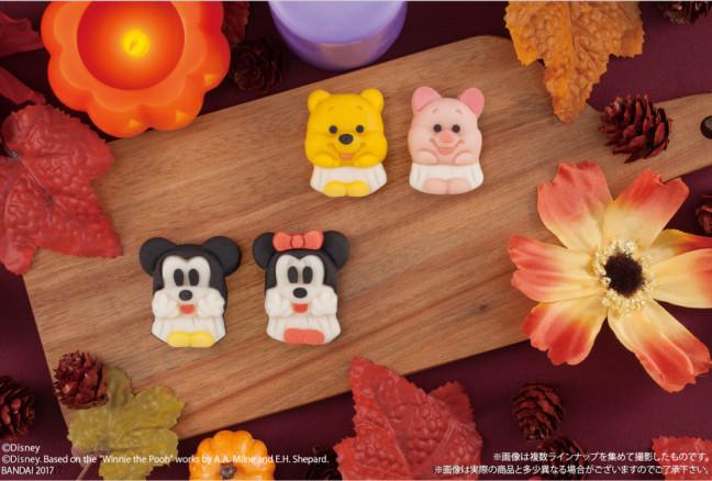 今年はディズニーキャラクターたちと一緒に和風ハロウィン☆ミッキーたちがおばけに仮装した和菓子がセブン-イレブンに登場!