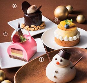 """カラフルで個性的☆""""雪だるま""""ケーキやピンク色がキュートなケーキなどが揃った宝塚ホテルのスイーツで美味しく冬を楽しもう♪"""