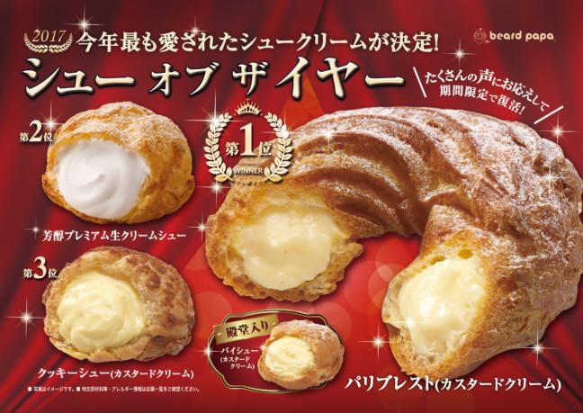 ビアードパパで2017年、最も愛されたシュークリームが復活!シュークリーム好きの人は食べなきゃ損な美味しさ『パリブレスト』