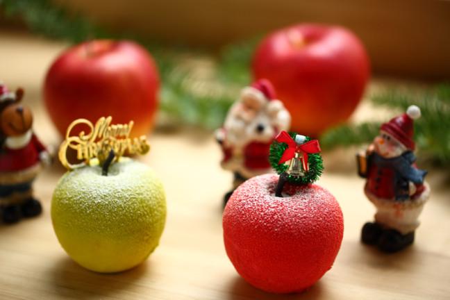 それはテーブルを彩るスイーツのオーナメント♡まるでりんごな見た目が話題の「原宿りんご」がクリスマスバージョンで登場☆