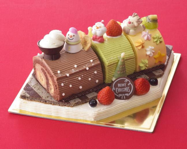 子どもの夢を叶えた☆大人も楽しくなっちゃうクリスマスケーキ♪カラフルな3色のロールケーキが、夢と優しさを乗せて走り出す☆