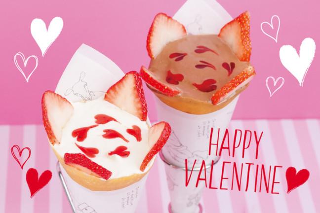 ラテアート風に描いたハートが可愛いクレープ♡MOMI&TOY'Sのバレンタイン限定「ショコラハート ダーク/ホワイト」
