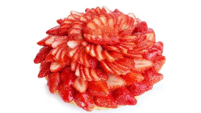 カフェコムサ 茨城県深作農園産 2種のいちごのケーキ