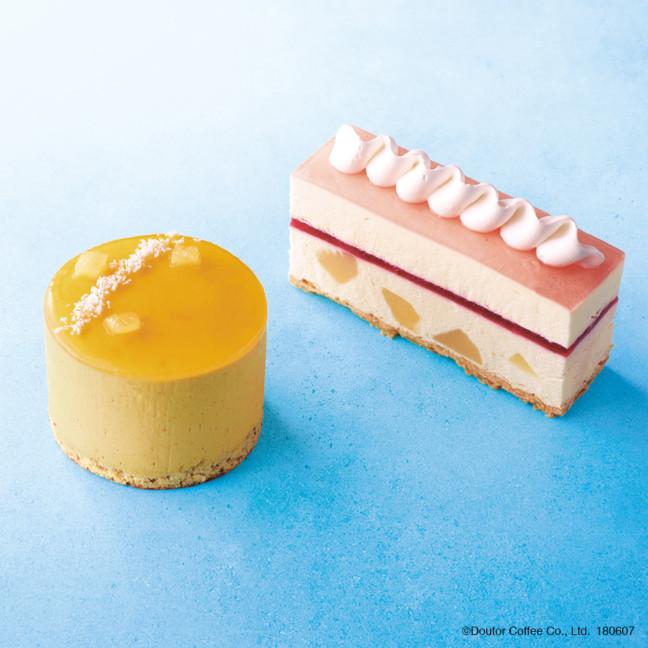 エクセルシオールカフェ マンゴームース~アールグレイの香り~ 白桃のレアチーズケーキ