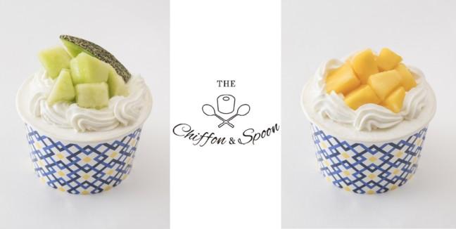 フルーツたっぷりのシフォンケーキ☆カップに入って食べやすさ抜群♪「ザ・シフォン&スプーン」の『ザ・フルーツデコレーションシフォン』