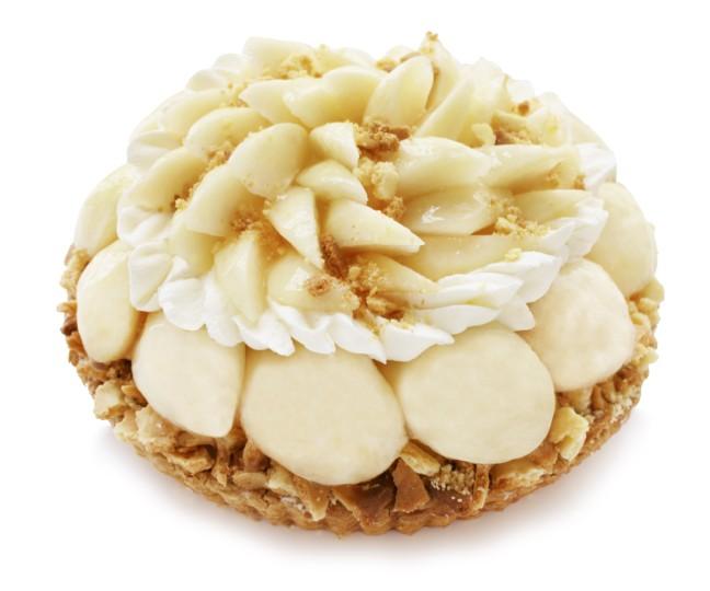 カフェコムサ『ももコレクション』 桃とチーズクラムのケーキ(ベース:フロマージュブラン)