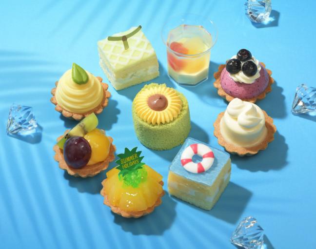 """""""涼""""を楽しむプチケーキ☆ひまわりやプールなど楽しい夏休みをイメージして作られた銀座コージーコーナーのプチケーキセット『サマーホリデー』"""