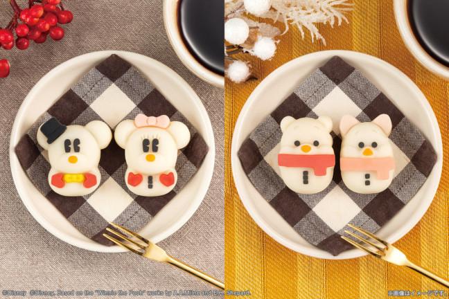 雪だるまになったミッキーたちとほっこり和菓子タイム♡キュートな和菓子シリーズ「食べマス」をお近くのセブン-イレブンで!