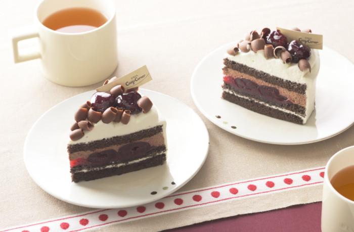 バレンタインに食べたい大人のチョコレートケーキ♪誰かと一緒に食べる「苺とショコラのケーキ」に、ダークチェリーの芳醇な味わい楽しめる「フォレノワール」など♡