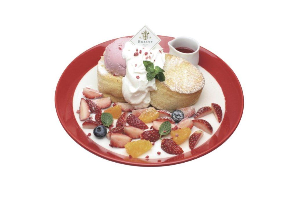 『Butter いちごフェア』 苺のふわふわパンケーキ