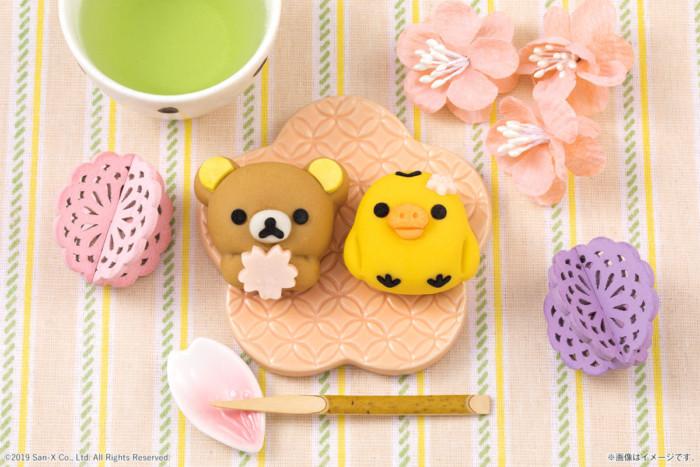 春はキュートな和菓子でホッとひと息♡リラックマが桜を抱えて春満開!「食べマス」からさくら餡入りの『桜リラックマ』登場♪