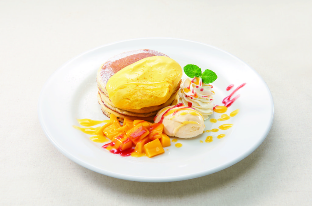 デニーズ マンゴーのバターミルクパンケーキ
