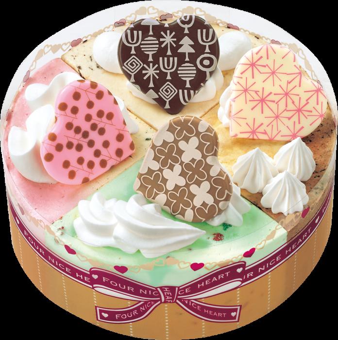 アイスクリームケーキを選ぶなら、これで決まり!!サーティワンの人気フレーバー7種類が楽しめる「パレット4 ハート」