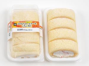 ミニストップ ふわもちロールケーキ いちご杏仁