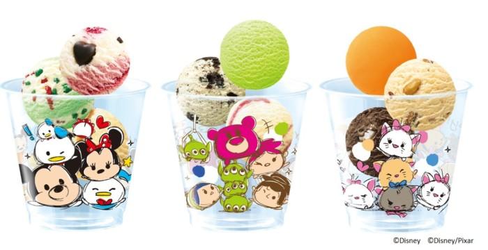 サーティワンは今、ツムツムが可愛い♪キュートなクリアカップに3つのお好きなアイスクリームをレッツ☆ツムツム!!