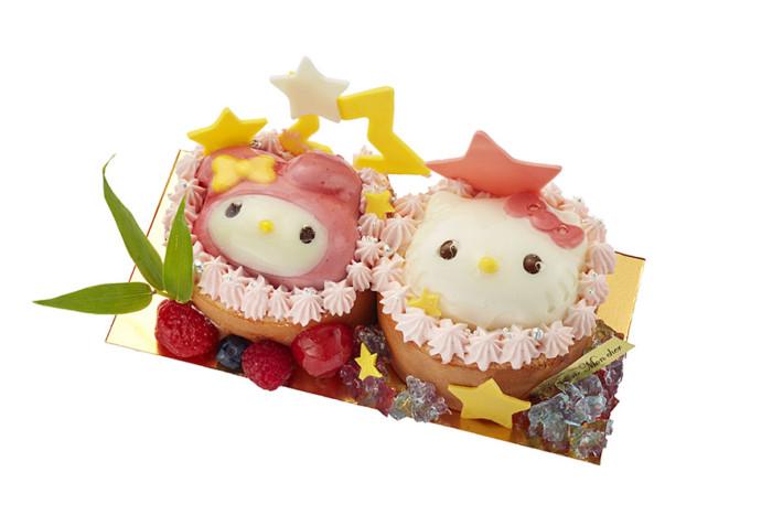 人気の堂島ロールに飾られたハローキティ&マイメロディがとってもキュート♡新宿小田急の「七夕フェア」はときめくスイーツいっぱい☆