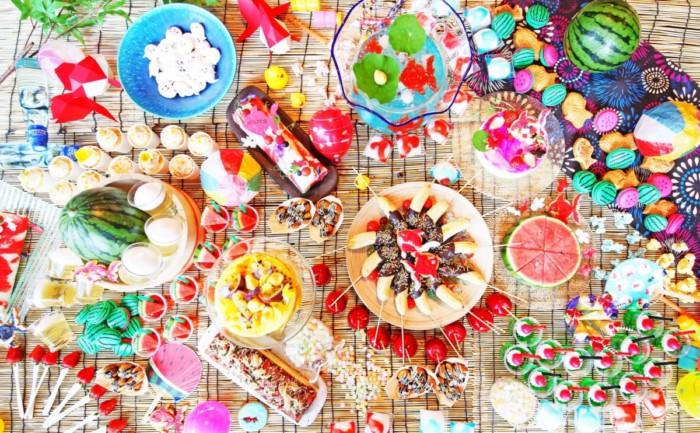 ブッフェで楽しむ夏祭り☆たこ焼きや焼きそばがスイーツに♪金魚鉢がフルーツポンチに!楽しいいっぱい「おとななつまつり」