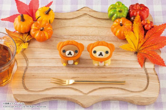 かぼちゃの被り物でキュートに仮装したリラックマ&コリラックマ♡可愛すぎて食べられない『食べマス リラックマ ハロウィン2019』