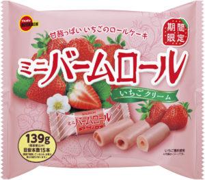 ブルボン ミニバームロール いちごクリーム