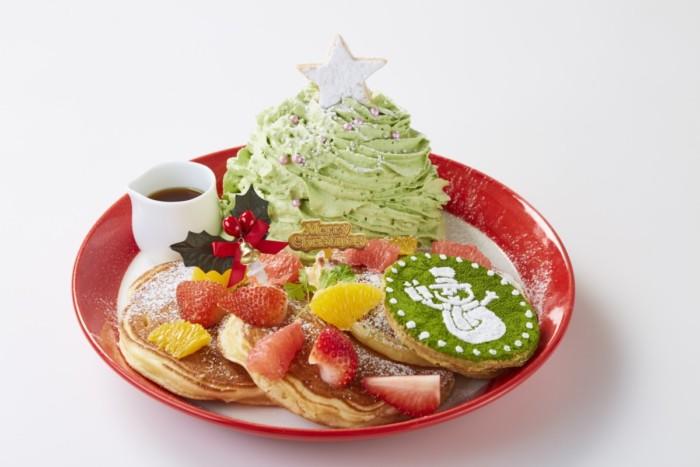 クリスマスツリーに鮮やかなフルーツを合わせて、華やかなクリスマスパンケーキ☆パンケーキ専門店『Butter(バター)』の「Christmas Fair~クリスマスフェア~」