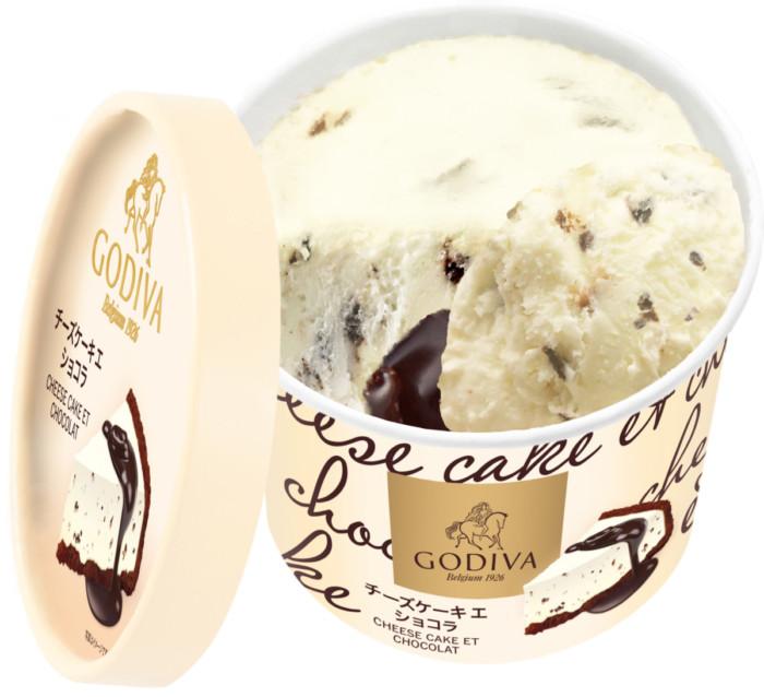 この美味しさ、なくなり次第終了!コンビニで買えるGODIVAのアイスは、チーズケーキアイスとチョコレートソースのはじめての味わい♡