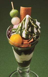 ガスト 北海道ソフトと八ッ橋の宇治抹茶パフェ