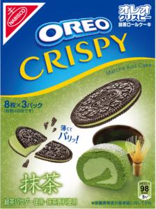 オレオ クリスピー 抹茶ロールケーキ